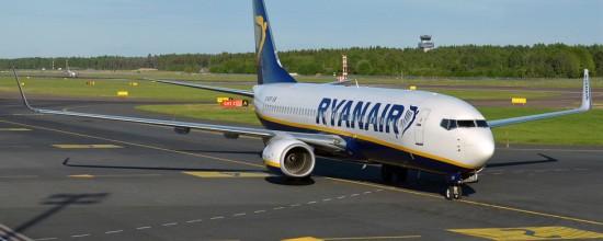 Un avion de Ryanair en el aeropuerto de Charleroi