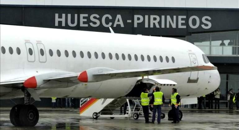 ¿Es rentable el aeropuerto de Huesca? Lleva tres meses sin un solo pasajero