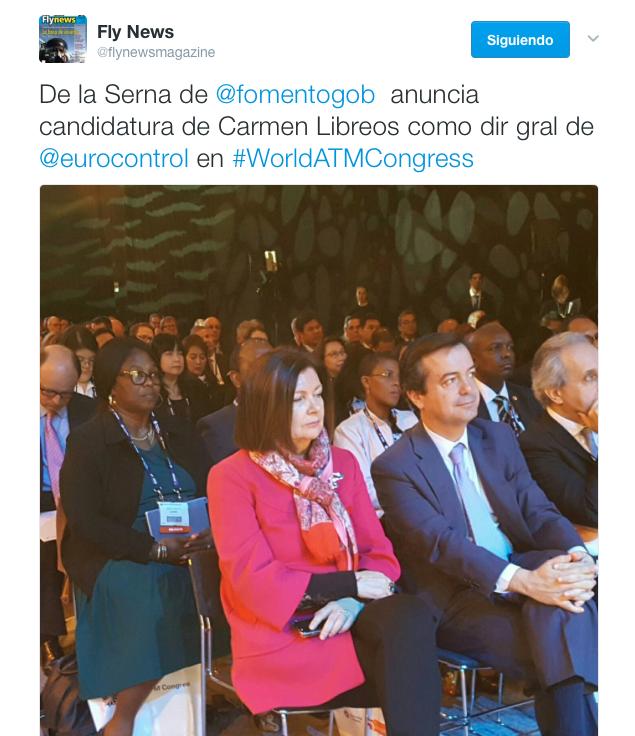 Carmen Librero, la peor opción como candidata a Secretaria General de Eurocontrol