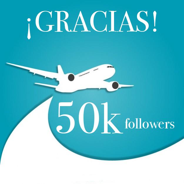 50k seguidores en Twitter. ¡GRACIAS!