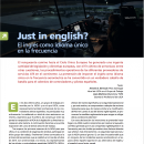 "Recordamos: ""Just in english? El inglés como idioma único en la frecuencia"", en ATC Magazine"