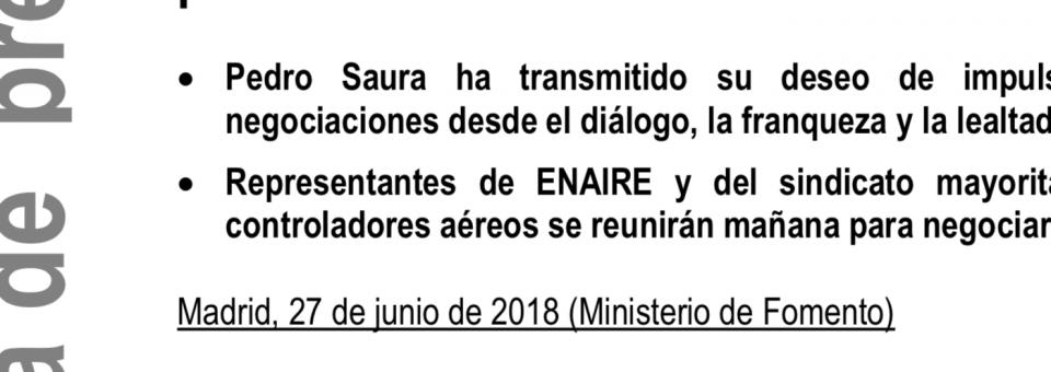 El secretario de Estado y presidente de ENAIRE valora de forma muy positiva la primera reunión mantenida con USCA
