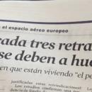 Un periodista de La Vanguardia confunde los colores de un gráfico de Eurocontrol y escribe un artículo sobre huelgas inexistentes