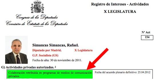 Rafael Simancas vuelve a cargar contra los controladores aéreos, su pasatiempo habitual