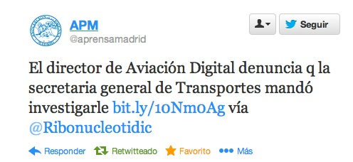 La Asociación de la Prensa se hace eco de la denuncia de Aviación Digital sobre espionaje