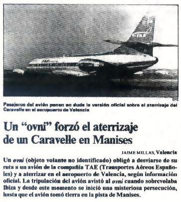 Comunicaciones originales del caso OVNI de Manises (1979)